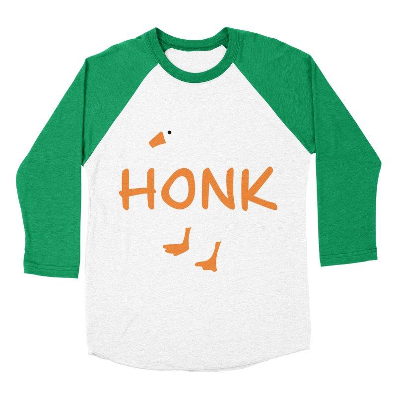 Honk Men's Baseball Triblend Longsleeve T-Shirt by runjumpstomp's Artist Shop