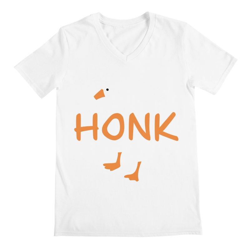Honk Men's Regular V-Neck by runjumpstomp's Artist Shop