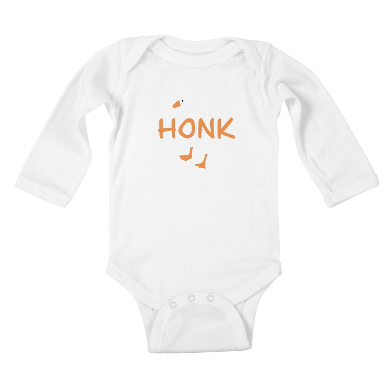 Honk Kids Baby Longsleeve Bodysuit by runjumpstomp's Artist Shop