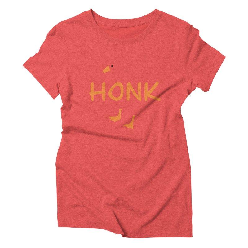 Honk Women's Triblend T-Shirt by runjumpstomp's Artist Shop