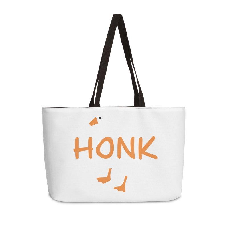 Honk Accessories Weekender Bag Bag by runjumpstomp's Artist Shop