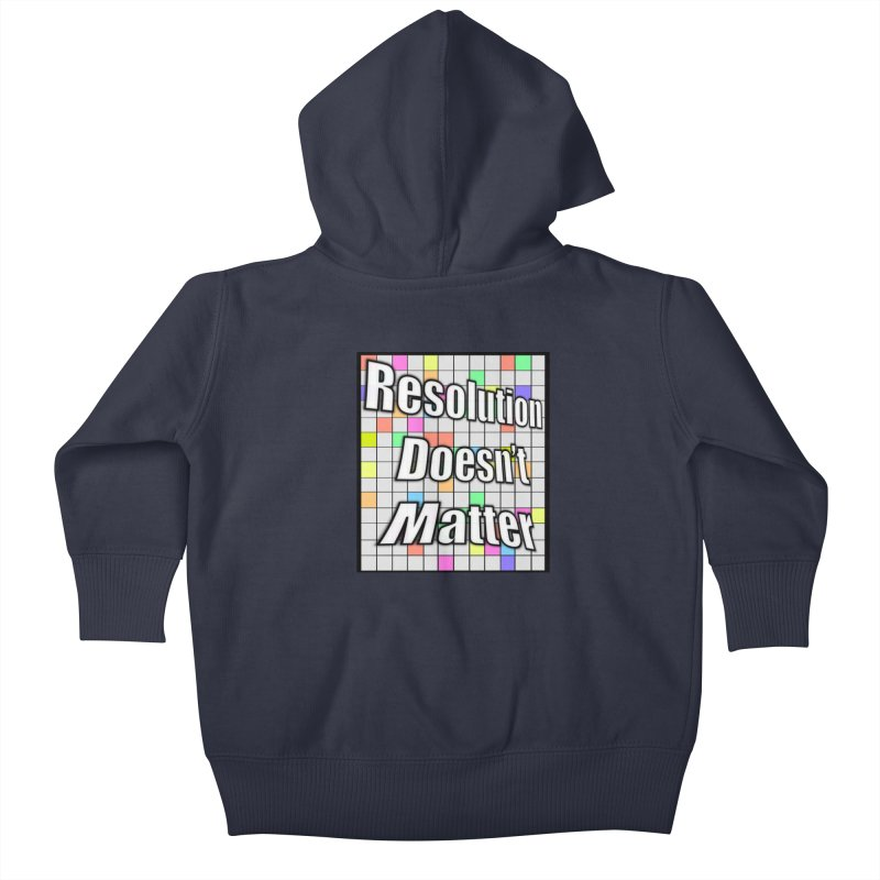 Resolution Doesn't Matter Kids Baby Zip-Up Hoody by runjumpstomp's Artist Shop