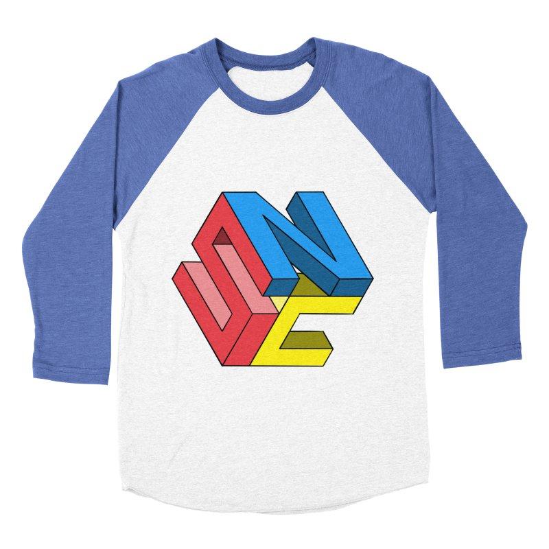 Nintendo Switch Craft 3D Logo Men's Baseball Triblend Longsleeve T-Shirt by runjumpstomp's Artist Shop