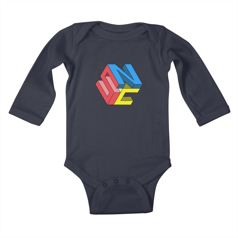 Nintendo Switch Craft 3D Logo Kids Baby Longsleeve Bodysuit by runjumpstomp's Artist Shop