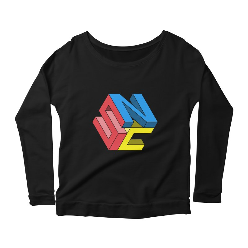 Nintendo Switch Craft 3D Logo Women's Scoop Neck Longsleeve T-Shirt by runjumpstomp's Artist Shop
