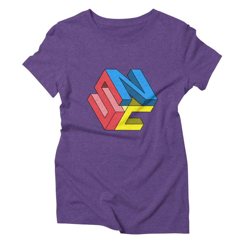 Nintendo Switch Craft 3D Logo Women's Triblend T-Shirt by runjumpstomp's Artist Shop
