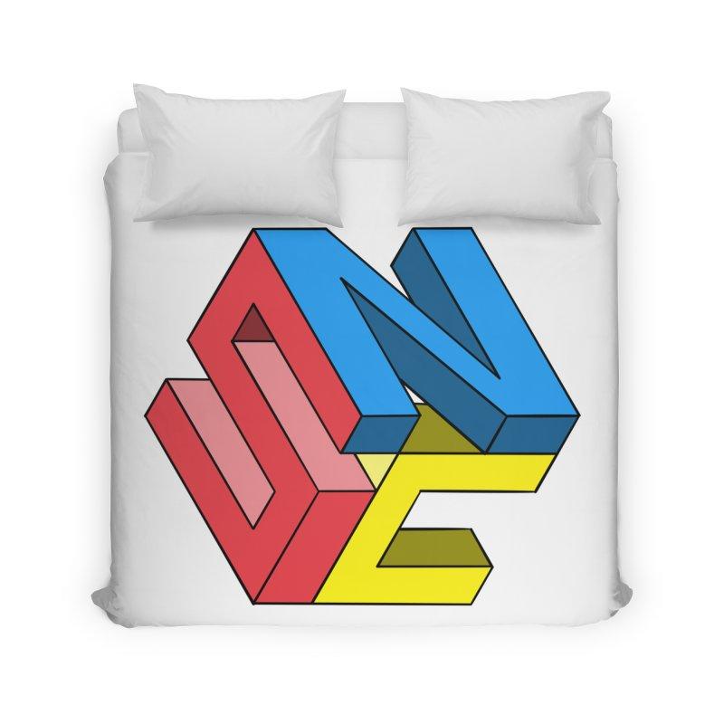 Nintendo Switch Craft 3D Logo Home Duvet by runjumpstomp's Artist Shop