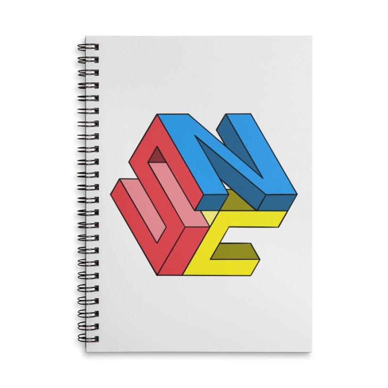 Nintendo Switch Craft 3D Logo Accessories Lined Spiral Notebook by runjumpstomp's Artist Shop
