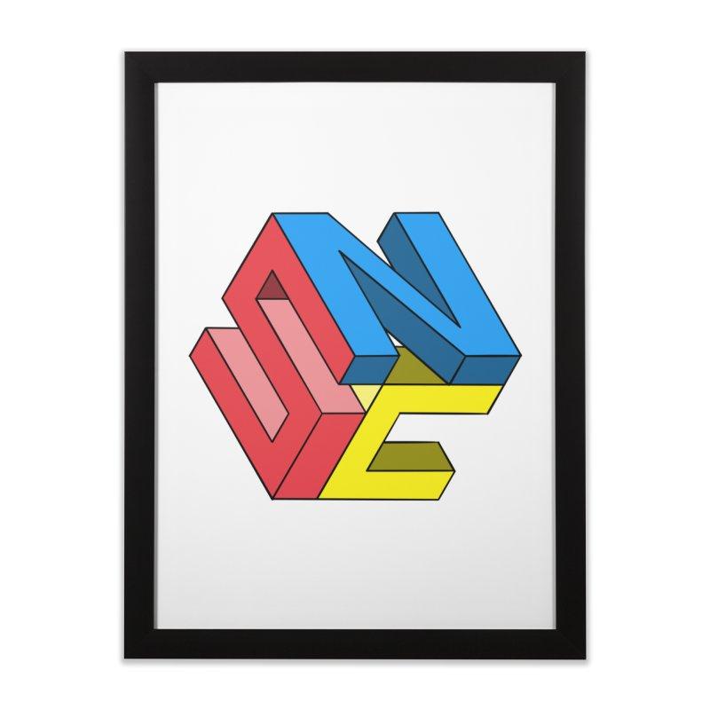 Nintendo Switch Craft 3D Logo Home Framed Fine Art Print by runjumpstomp's Artist Shop