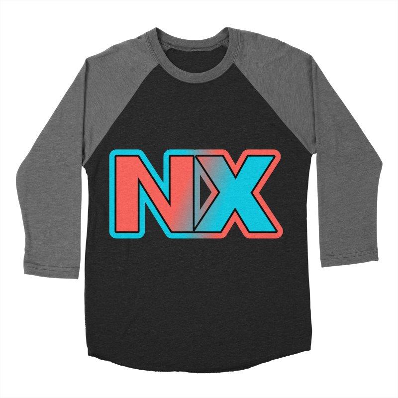 NX Men's Baseball Triblend Longsleeve T-Shirt by runjumpstomp's Artist Shop
