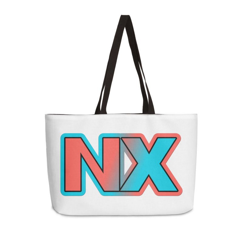 NX Accessories Weekender Bag Bag by runjumpstomp's Artist Shop