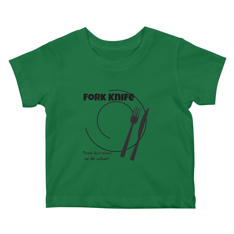 Welcome To Fork Knife Kids Baby T-Shirt by runjumpstomp's Artist Shop