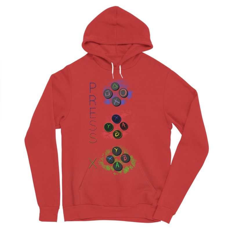 Press X Women's Sponge Fleece Pullover Hoody by runjumpstomp's Artist Shop