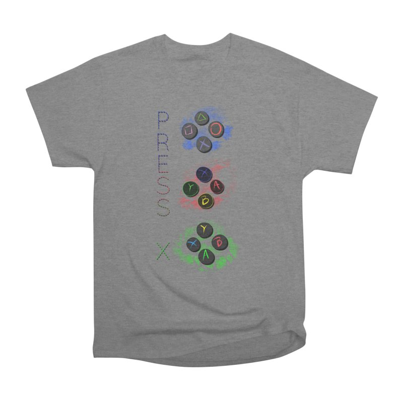Press X Men's Heavyweight T-Shirt by runjumpstomp's Artist Shop