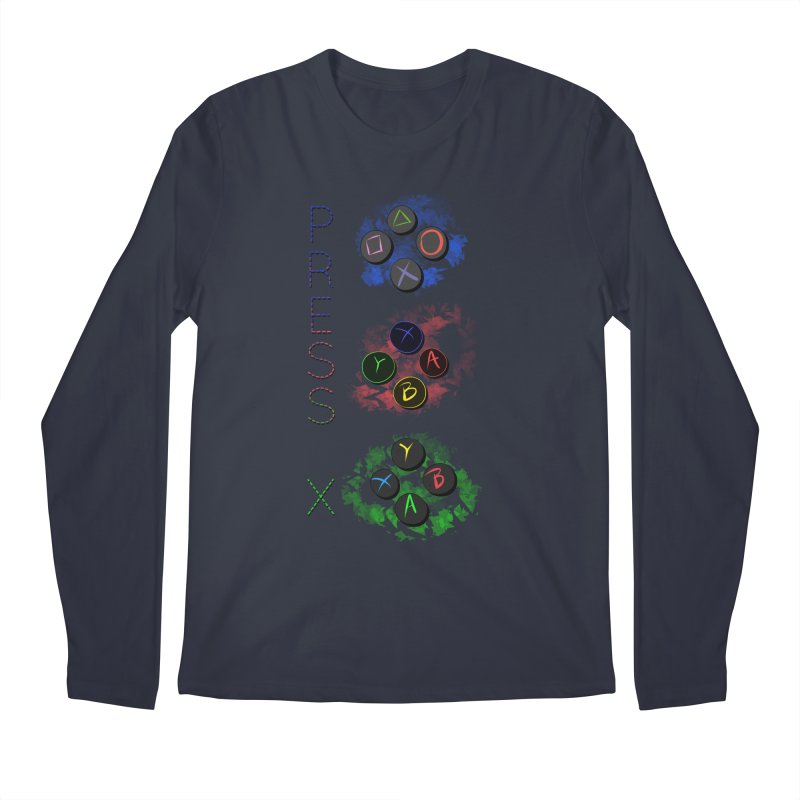 Press X Men's Regular Longsleeve T-Shirt by runjumpstomp's Artist Shop