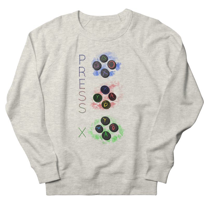 Press X Men's French Terry Sweatshirt by runjumpstomp's Artist Shop