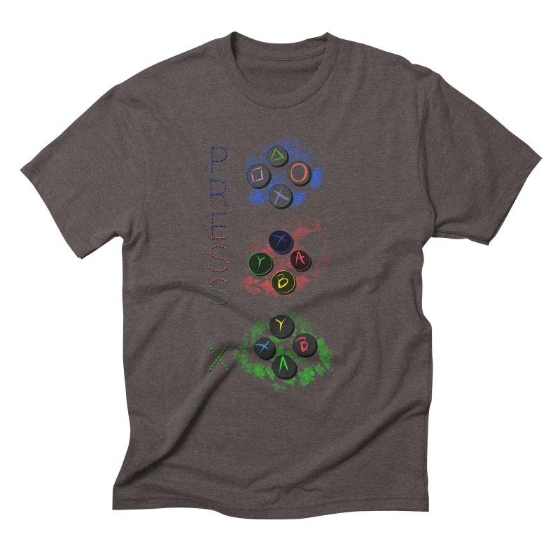 Press X Men's Triblend T-Shirt by runjumpstomp's Artist Shop
