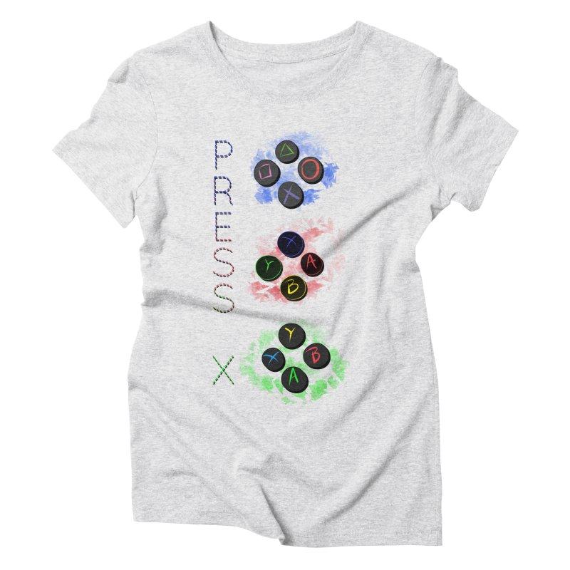 Press X Women's Triblend T-Shirt by runjumpstomp's Artist Shop