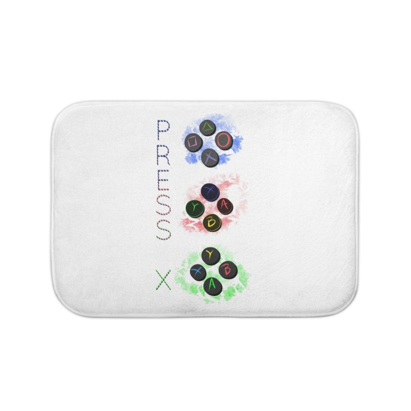 Press X Home Bath Mat by runjumpstomp's Artist Shop