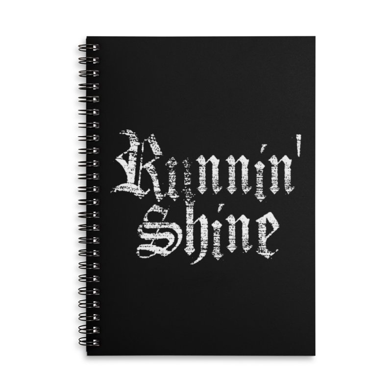 White Logo Accessories Lined Spiral Notebook by Runnin' Shine Store