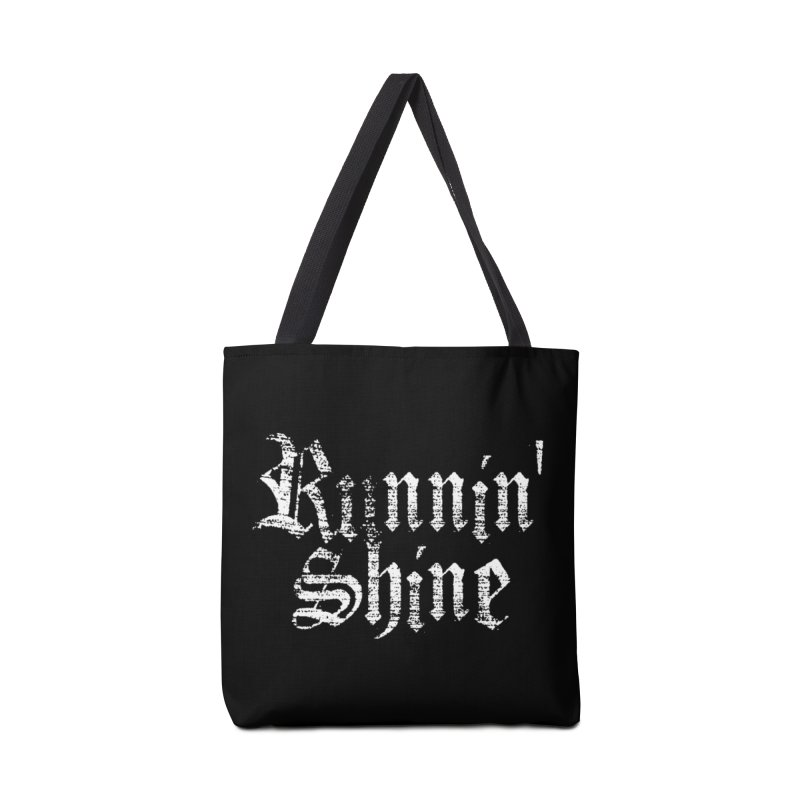 White Logo Accessories Tote Bag Bag by Runnin' Shine Store