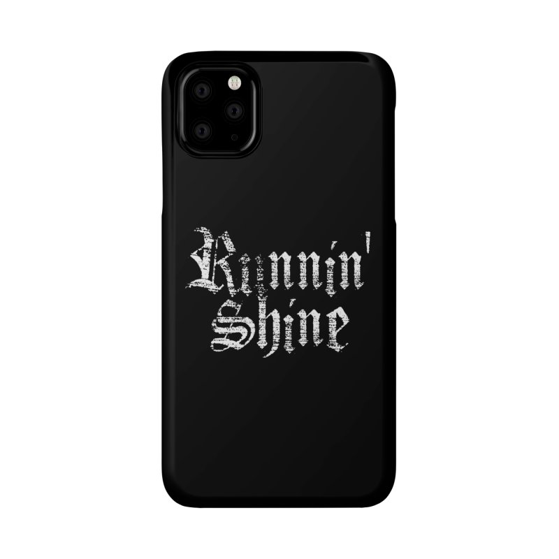 White Logo Accessories Phone Case by Runnin' Shine Store