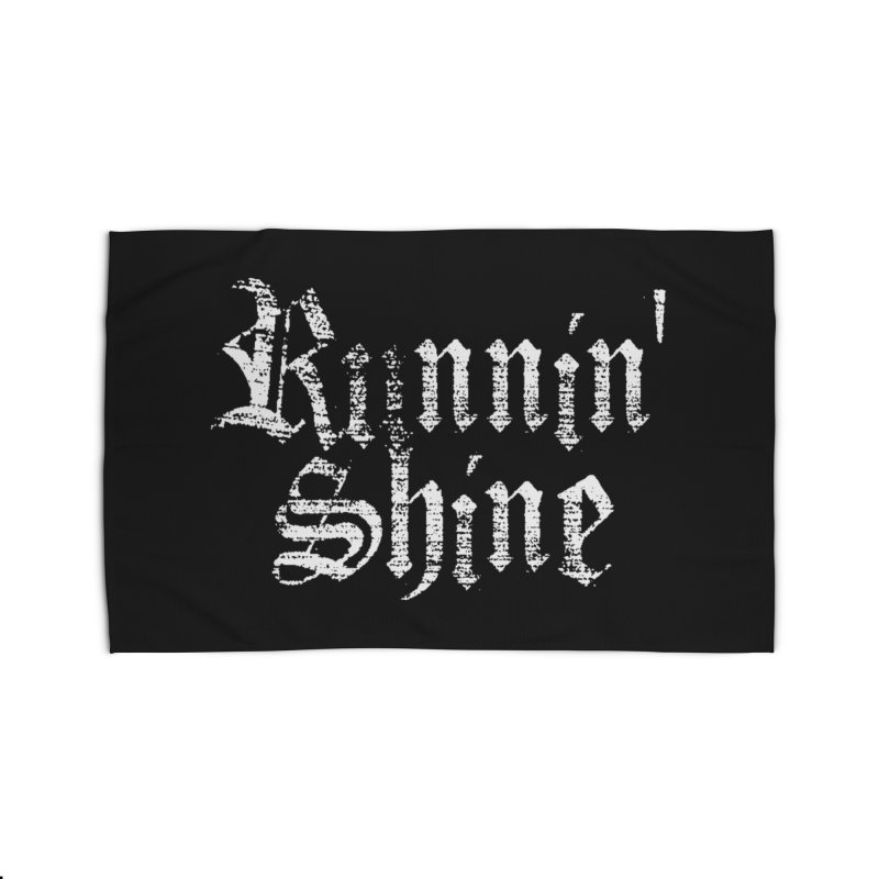 White Logo Home Rug by Runnin' Shine Store