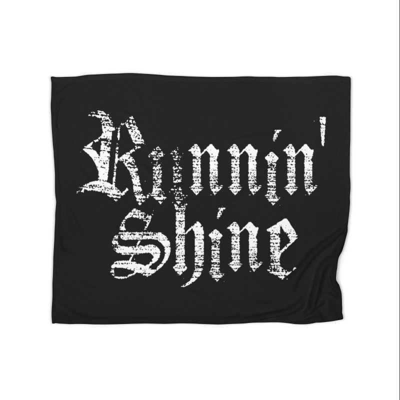White Logo Home Fleece Blanket Blanket by Runnin' Shine Store