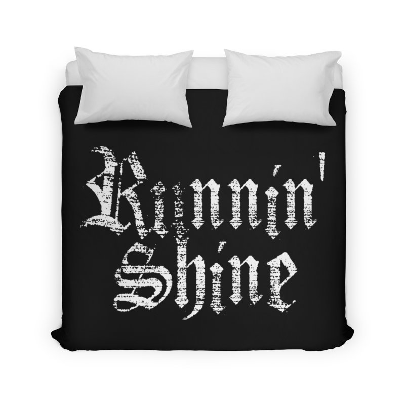 White Logo Home Duvet by Runnin' Shine Store
