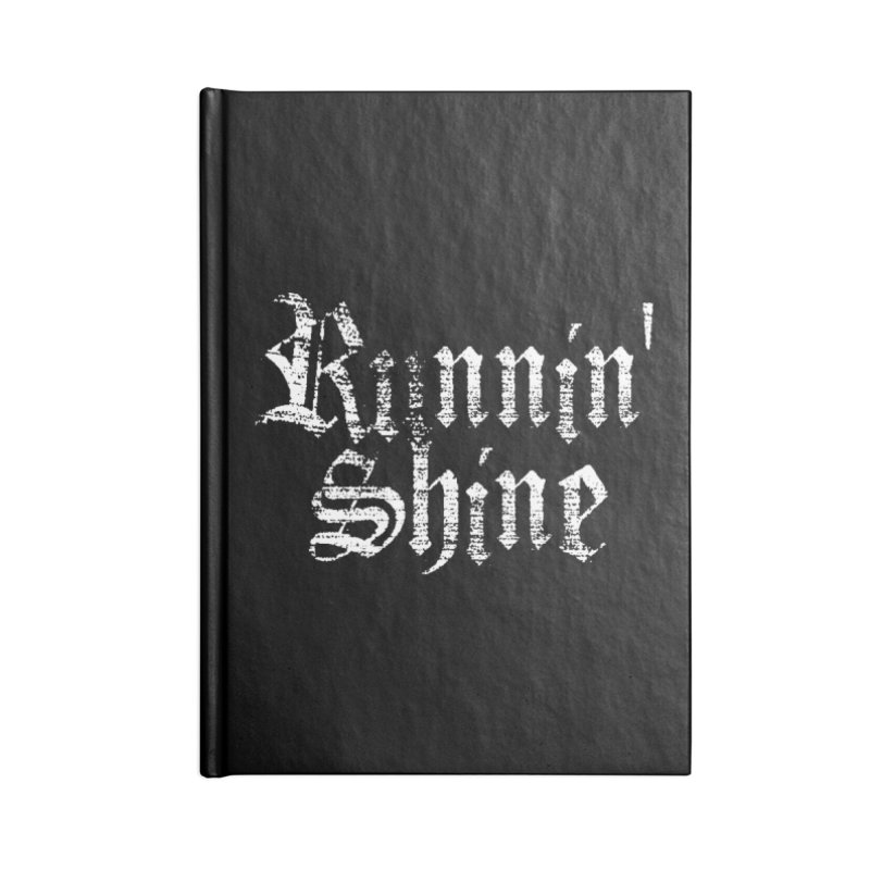 White Logo Accessories Lined Journal Notebook by Runnin' Shine Store