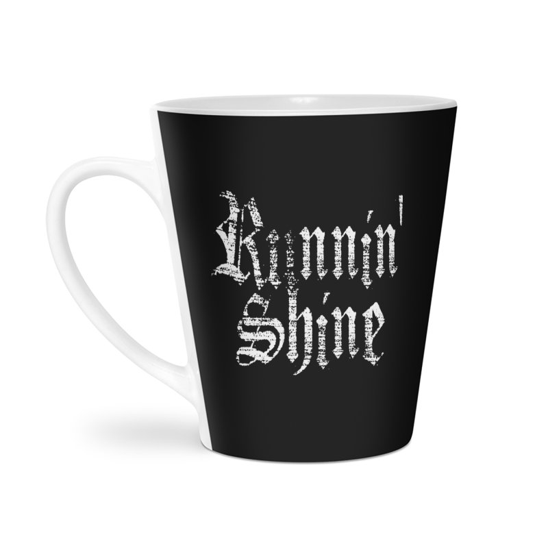 White Logo Accessories Latte Mug by Runnin' Shine Store