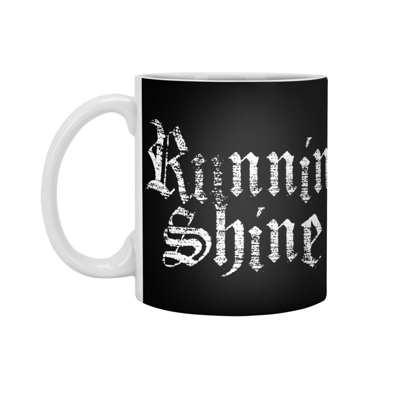 White Logo Accessories Mug by Runnin' Shine Store