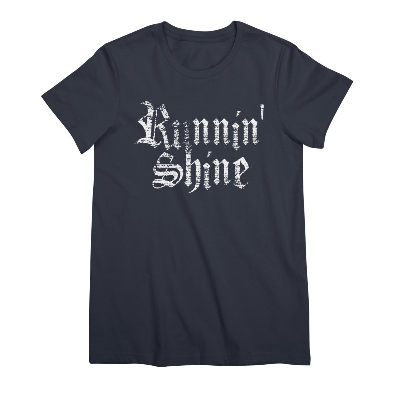 White Logo Women's Premium T-Shirt by Runnin' Shine Store