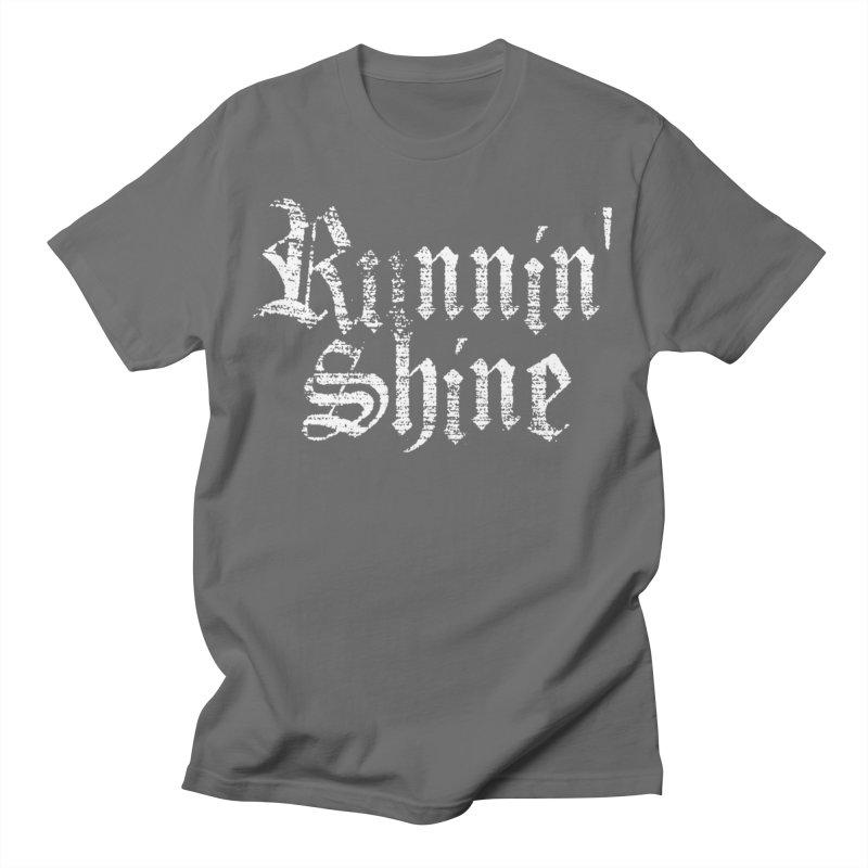 White Logo Men's T-Shirt by Runnin' Shine Store
