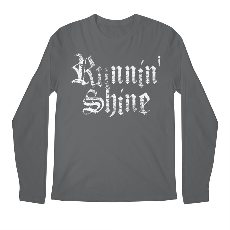 White Logo Men's Regular Longsleeve T-Shirt by Runnin' Shine Store