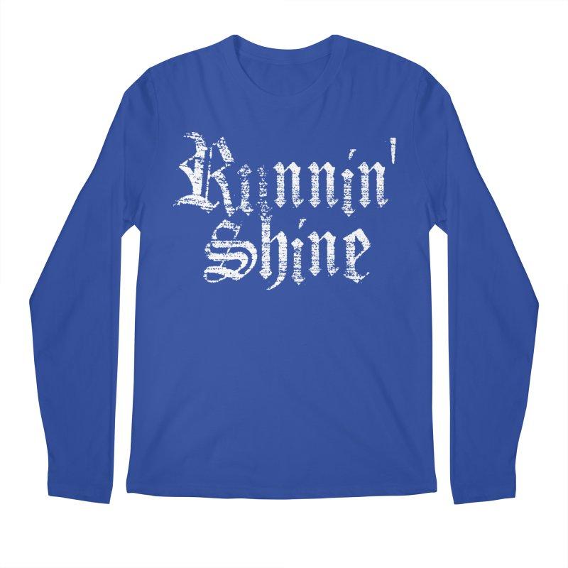 White Logo Men's Regular Longsleeve T-Shirt by Runnin' Shine Store