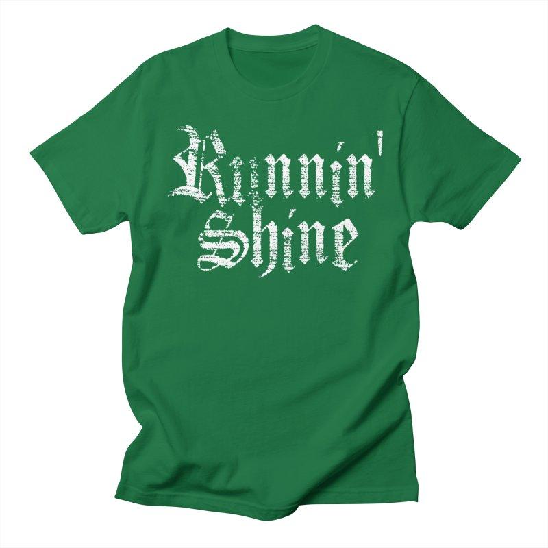 White Logo Men's Regular T-Shirt by Runnin' Shine Store