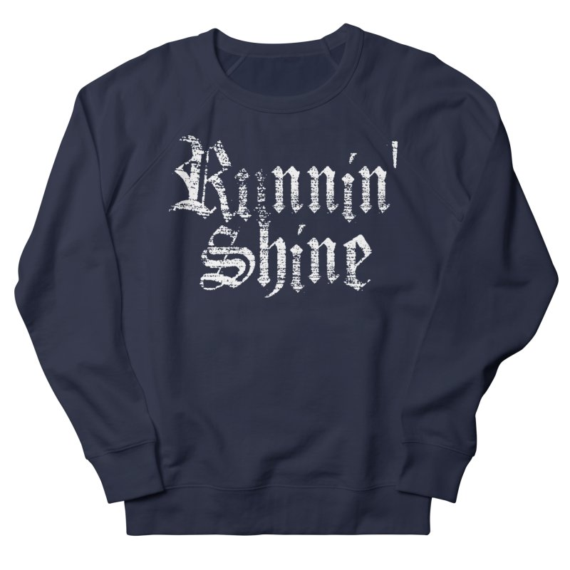 White Logo Women's French Terry Sweatshirt by Runnin' Shine Store