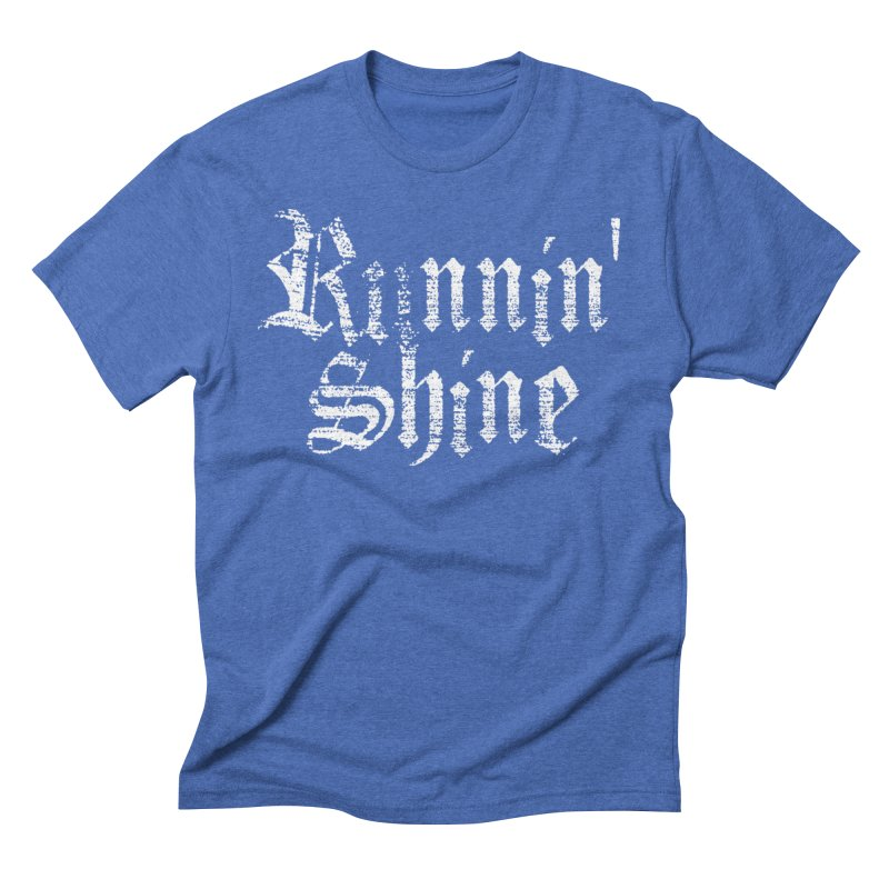 White Logo Men's T-Shirt by Runnin' Shine Store