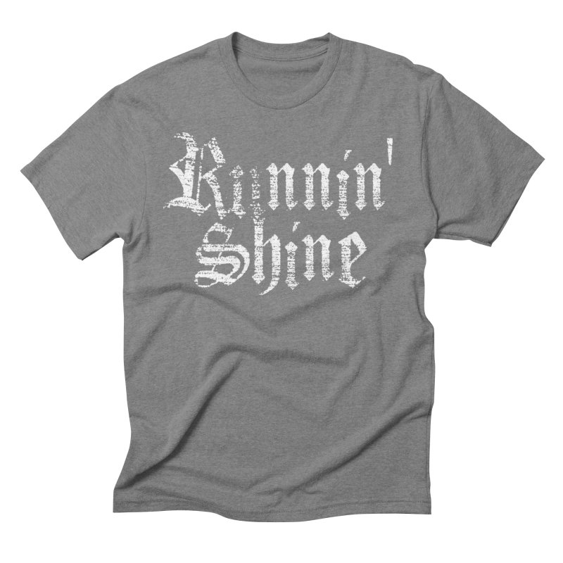 White Logo Men's Triblend T-Shirt by Runnin' Shine Store