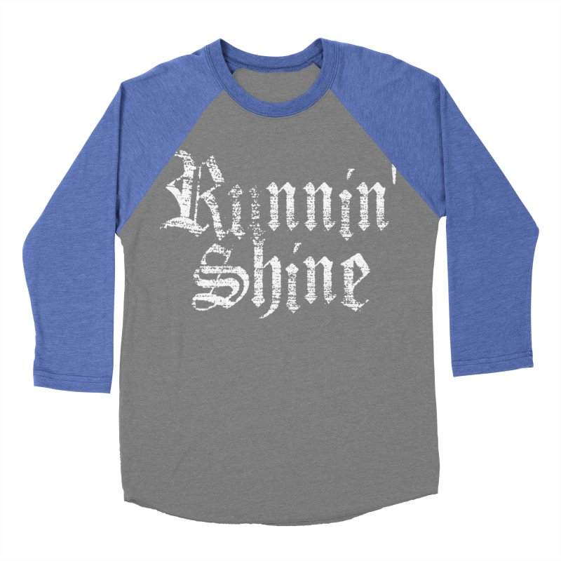 White Logo Women's Baseball Triblend Longsleeve T-Shirt by Runnin' Shine Store