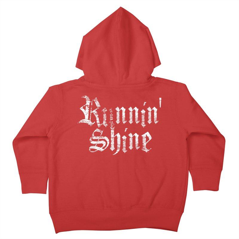 White Logo Kids Toddler Zip-Up Hoody by Runnin' Shine Store