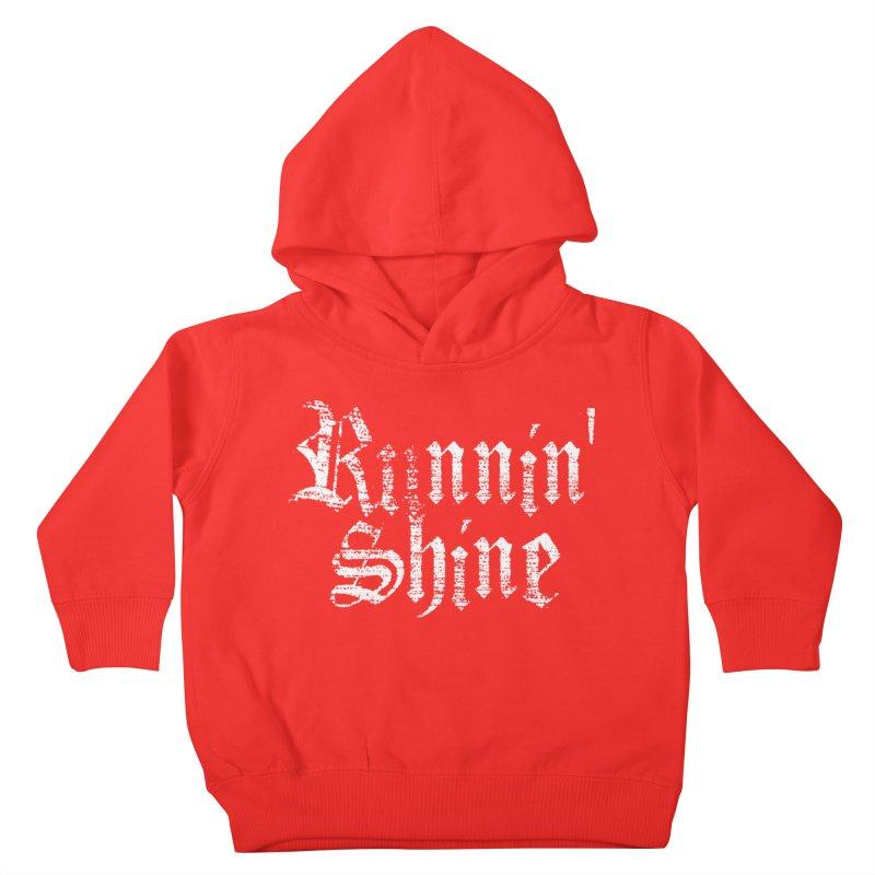 White Logo Kids Toddler Pullover Hoody by Runnin' Shine Store