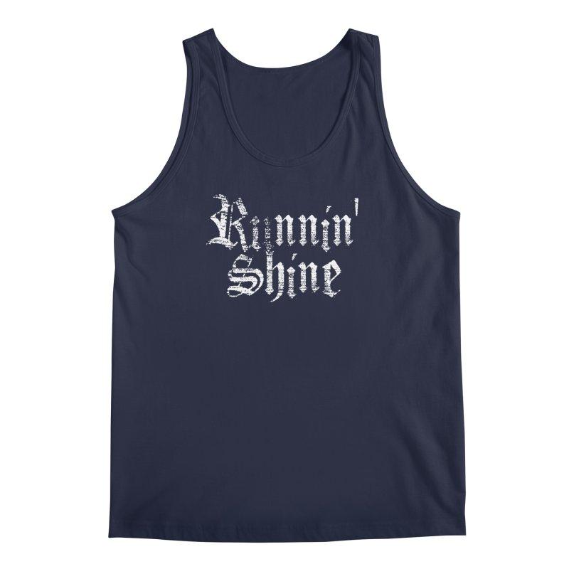 White Logo Men's Regular Tank by Runnin' Shine Store