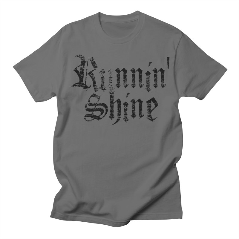Black Logo Men's T-Shirt by Runnin' Shine Store