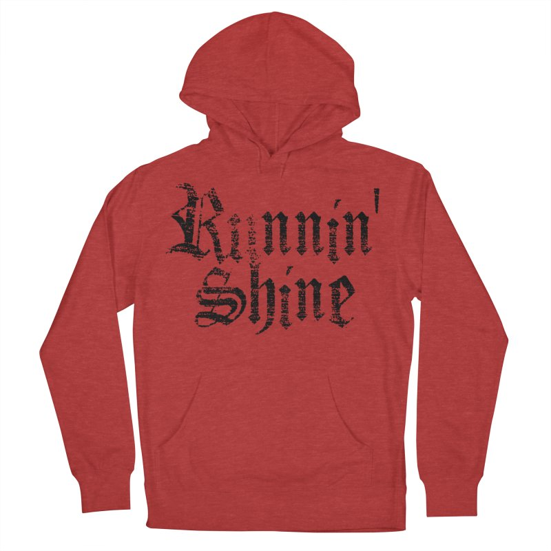 Black Logo Women's French Terry Pullover Hoody by Runnin' Shine Store