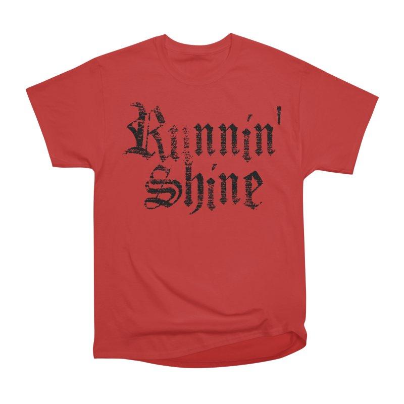 Black Logo Women's Heavyweight Unisex T-Shirt by Runnin' Shine Store