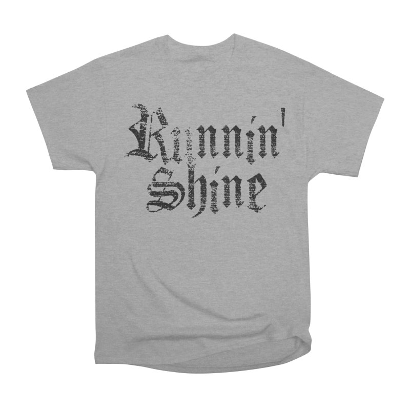 Black Logo Women's Heavyweight Unisex T-Shirt by Runnin' Shine Store