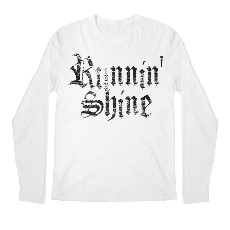 Black Logo Men's Regular Longsleeve T-Shirt by Runnin' Shine Store