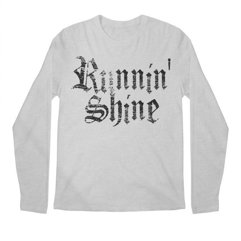 Black Logo Men's Regular Longsleeve T-Shirt by Runnin' Shine Store
